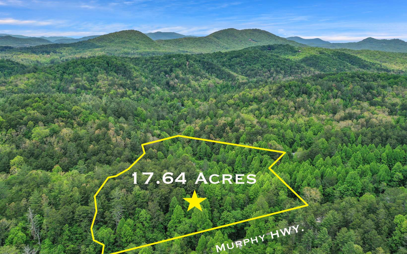 Beautiful Hardwoods on this 17.64 acres on gentle laying land fronting Murphy Highway. Looking for privatcy, easy access or maybe place a business at front of property at highway and build your retreat at the back of this property. Or subdivide for Tiny Homes or rental properties. Lots of Potential for this large tract of land. Power at property edge. Back to Blue Ridge in 10 to 15mins for dining or to Toccoa River or Lake Blue Ridge or easy access 15 mins to Murphy NC. to the Casino. (3.88 acre tract adjoins this property and can be available for sale as well)