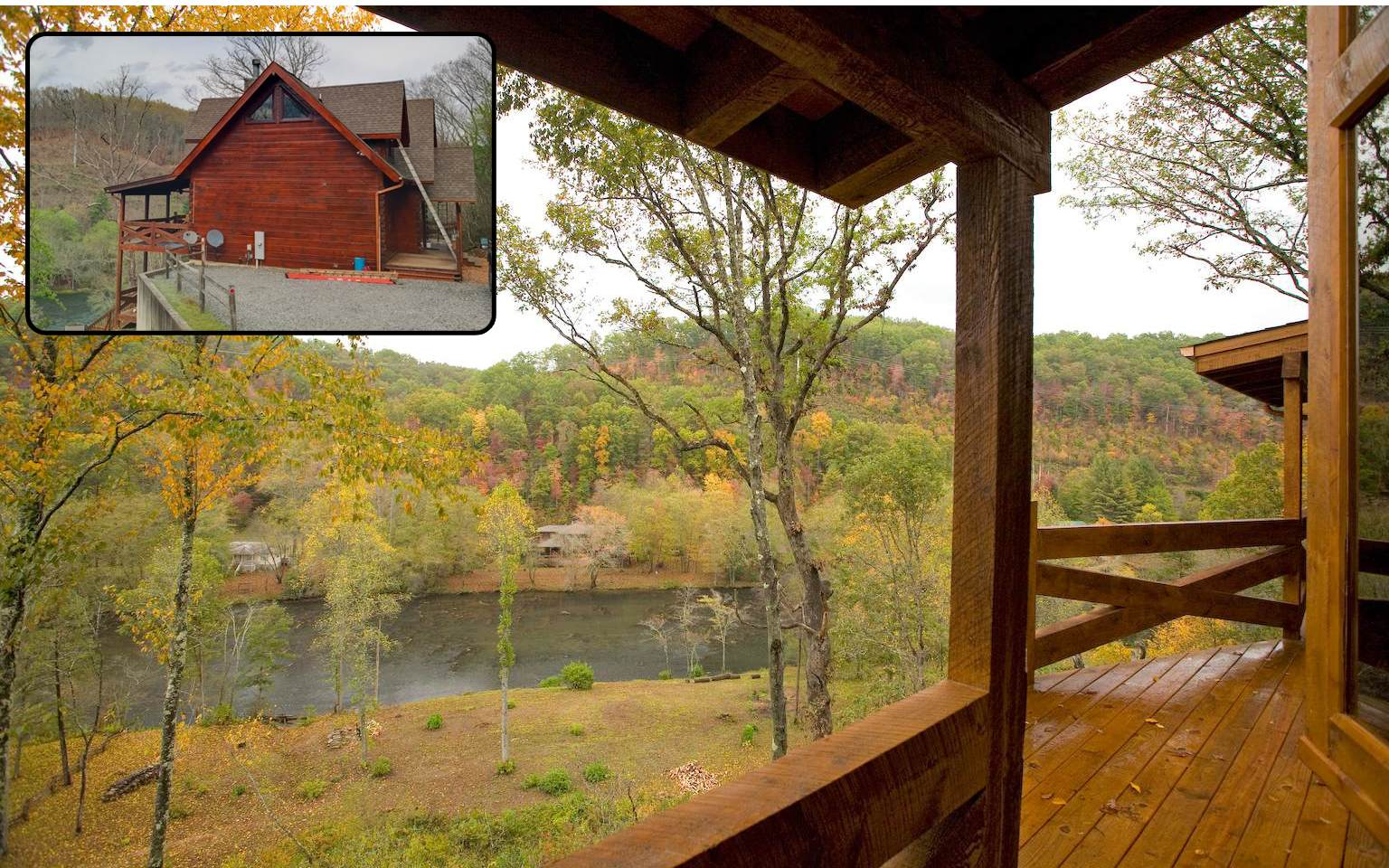 235 ft Toccoa River Frontage-5BR-5.5BA on 1.65AC